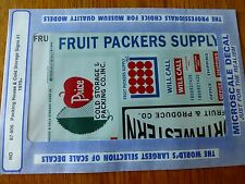 Microscale Decal HO  #87-806 Packing House & Cold Storage Signs #1, (1970+) Pack