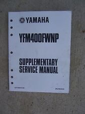 2001 Yamaha Motorcycle YFM400FWNP Supplementary Service Manual New Data Bike L