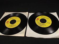 2 VINTAGE rock 45 record album lot THE ROLLING STONES Shattered Beast of Burden