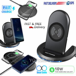 For Samsung Note 20/109/8/S10/S9/S8/S20/S21 Wireless Fast Charger Charging Stand