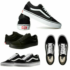 2021 Neu Herren DamenVans Old Skool Schwarz Weiß Sneaker Herren Skate Schuhe DE~