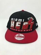 Miami Heat Snapback Hat New Era 9Fifty New NWT Basketball NBA Black