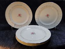 """FOUR Fine China of Japan Royal Swirl Dinner Plates 10 1/4"""" (Set of 4) Excellent"""