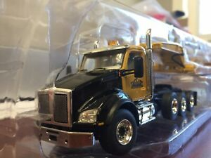 custom kenworth T-880 Yellow And Black With Yellow Lowbow 1/50 Scale