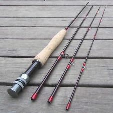 2.44M Length 4 Pieces Carbon Fly Fishing Rod Pole # 3/4 Length 8FT