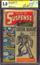 "TALES OF SUSPENSE 39 CGC 5.0 SS STAN LEE QUOTED ""EXCELSIOR!"" LABEL 1ST IRON MAN"