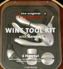 New listing The Original Rabbit Wine Tool Kit - 6 Piece Set includes Aerator