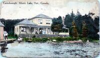 1912 Carnshanagh Ahmic Lake Ontario Burks Fall Postmark Postcard BR