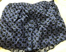 NWT Intimo Topsail Full Cut Silk Boxers Blue Black Button Fly Size XL