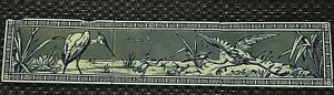 3 X Aesthetic tiles with Cranes and frog Christopher Dresser design?  21/512S