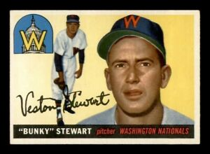 1955 Topps Set Break # 136 Bunky Stewart EX *OBGcards*