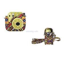Camera PU Leather Case Shoulder Bag Cover for Fujifilm Polaroid Instax Mini 8