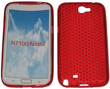 Pattern Gel Case Protector Cover For Samsung Galaxy Note 2 GT N7100 N7105 Red UK