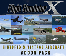 Flight Simulator X FSX AddOn Bundle-HISTORIC & VINTAGE Flugzeug [20+ Add Ons]