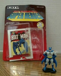 Batman Ertl Die Cast Figure/DC Comics Super Heroes/Loose w Package/1990