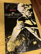NYCC Marvels / Netflix IRON FIST Joe Quesada CAST SIGNED POSTER