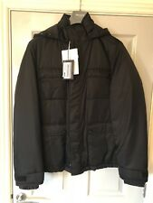 Prada Black Down Filled Hooded Jacket Size 50 Bnwts Large