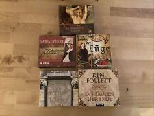 Hörbücher 5 Stück auf 38 Cd?s, verschiedene Genres