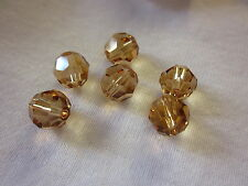 4 Swarovski 8mm Lt Colorado Topaz (246) Beads #1537 Combine Post-See Listing