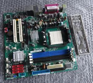 Pegatron AP480C-S REV. 1.03 Socket AM2 ATX DDR2 Motherboard with Back Plate
