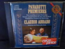 Pavarotti Premieres - Claudio Abbado / Orchestra Del Teatro Alla Scala/Pavarotti