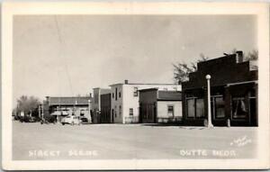 """1940s BUTTE, Nebraska RPPC Postcard """"STREET SCENE"""" Downtown / O'Neill Photo"""