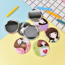Mini Girl Series Mirror Portable Makeup Mirror Small Pocket Traveling One SidedV
