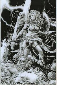 Red Sonja # 2 Jay Anacleto 1 in 15 Black & White Virgin Variant Cover !!  NM