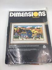 NEW 1986 Dimensions Needlepoint ~  Liberty Farms ~ Vintage Kit 2307 Cross Stitch