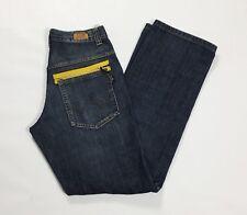 X cape jeans uomo usato w32 tg 46 relaxed comodo boyfriend denim cargo blu T3074
