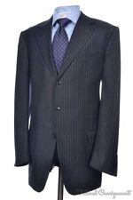 ERMENEGILDO ZEGNA Recent Gray Striped Wool Jacket Pants SUIT Mens - 42 L