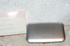 New Mary Kay Mocha Bronze Foundation NIB Silver Compact Mirror Sponge Bigger Sz