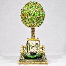 3' Easter Enameled Bay Orange Tree Egg Russian Traditions Of Faberge
