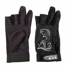 New 2 Pcs Practical Black Rubber Dots Nonslip Palm Two Finger Fishing Glove G6U6