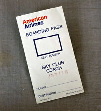 American Airlines   Sky Club Coach   boarding pass