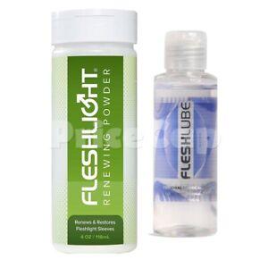 Fleshlight Sex Toy Renewing Powder - Fleshlube Water Based Lubricant Lube 100ml