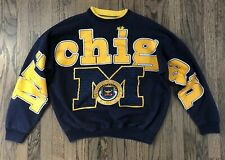 Vintage University of Michigan Wolverines Pullover Sweatshirt Sweater Size XL