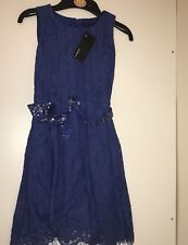 M&S Girl Lace Dress With Sequin Belt  Size (6-7,7-8years)