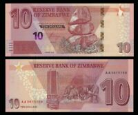 ZIMBABWE 10 Dollars, 2020, P-NEW, UNC World Currency