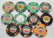 Set of 11 Kings International $20-$25-$100-$1000 Casino Chips Palm Beach Aruba