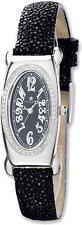 Ladies Charles Hubert Black Stingray 0.68ctw Diamond 21x38mm Watch