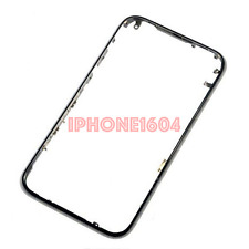 iPhone 3G Chrome Front Bezel Frame Cover Replacement Part BLACK - SHIP CANADA
