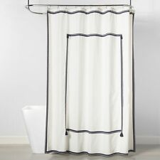 Frame Border Shower Curtain Navy/White - Threshold