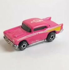 Vintage 1976 Hot Wheels 1:87 HO Micro Cool Man '57 Chevy Pink with Flames