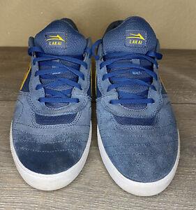 Lakai Cambridge Skateboard Shoe blue Men's Size 12