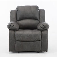 PU Leather Recliner Chair Armchair Single Sofa Chaise Lounge Seat Living Room
