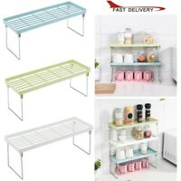 Adjustable Standing Rack Kitchen Bathroom Storage Organizer Shelf Holder Rack