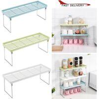 Adjustable Standing Rack Kitchen Bathroom Storage Organizer Shelf Holder Rack