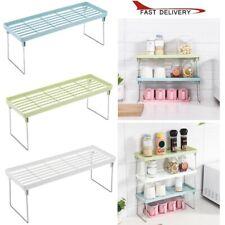 Standing Rack Kitchen Bathroom Cup Jar Spice Storage Organizer Shelf Holder TK