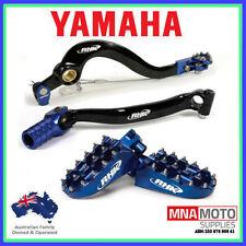 YAMAHA WR450F RHK FOOTPEGS REAR BRAKE PEDAL & GEAR LEVER KIT 2012 - 2015 BLUE